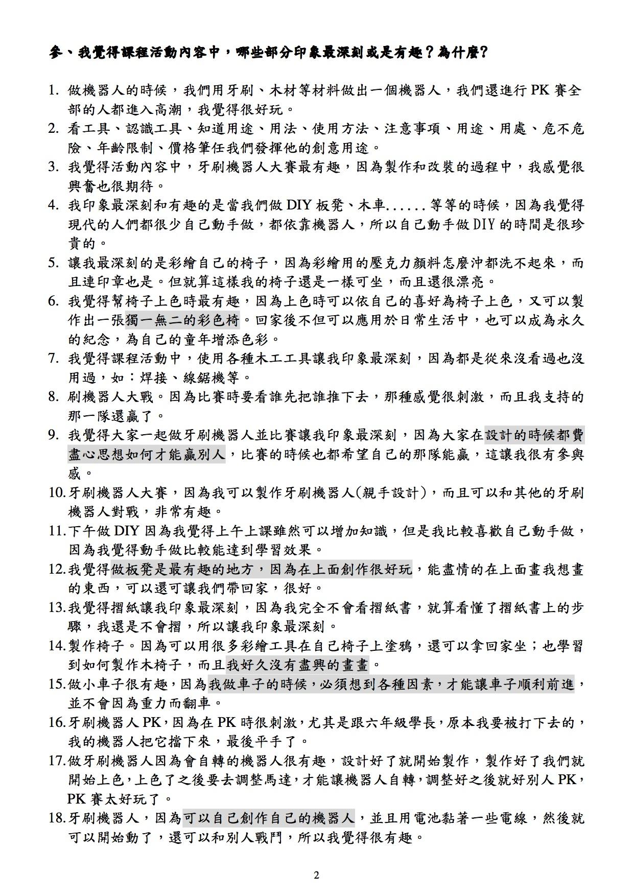 問卷分析結果2